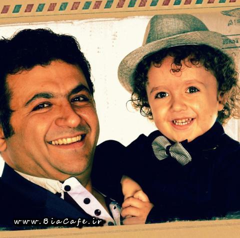 عکس شهرام عبدلی و پسرش