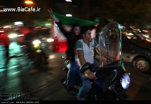 عکس های دیشب خیابان های تهران