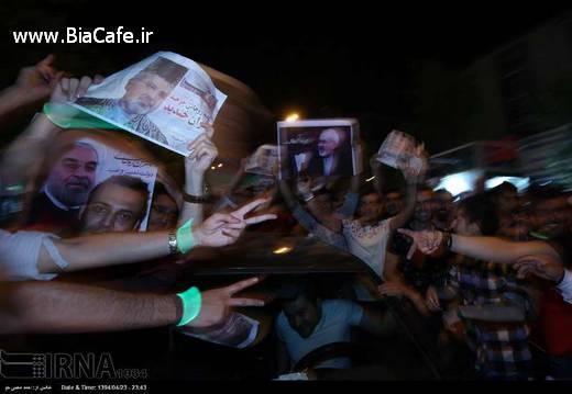 شادی مردم در خیابان تهران تیر 94