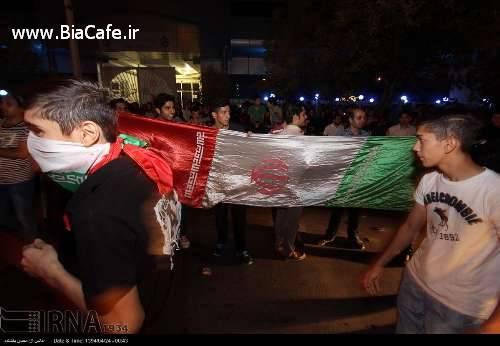 عکس شلوغی های خیابان های مشهد بعد از توافق هسته ای
