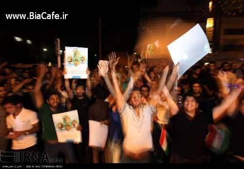 تصاویر خوشحالی مردم بعد از توافق هسته ای