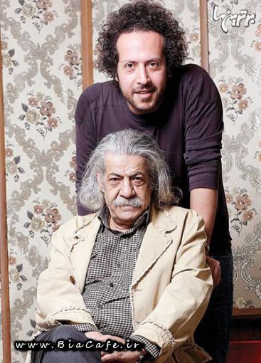 عکس سینا حجازی و پدرش