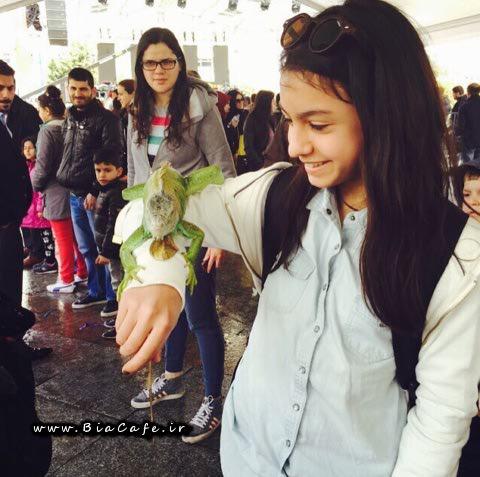 عکس نیکی نصیریان در استانبول