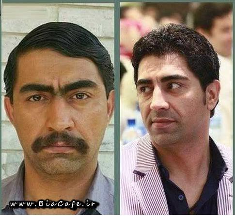 محمدرضا علیمردانی بازیگر نقش بائو در سریال پایتخت 4 قبل و بعد از گریم