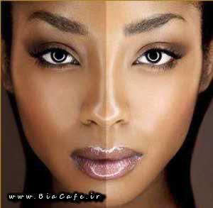 خوشگل کردن پوست صورت تیره
