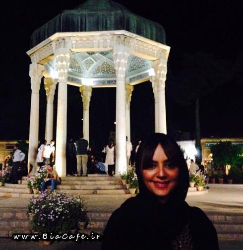 عکس لیلا برخورداری در حافظیه شیراز