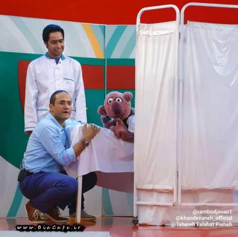 عکس خنده دار جناب خان و رامبد جوان