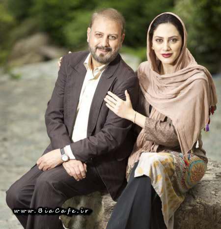 عکس مونا فرجاد و پدرش جلیل فرجاد