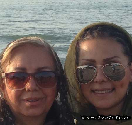 عکس بهار ارجمند و مادرش