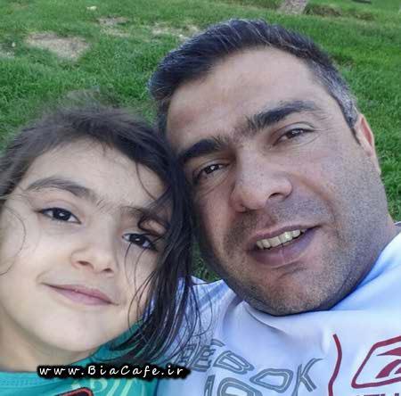 عکس بیت الله عباسپور و دخترش
