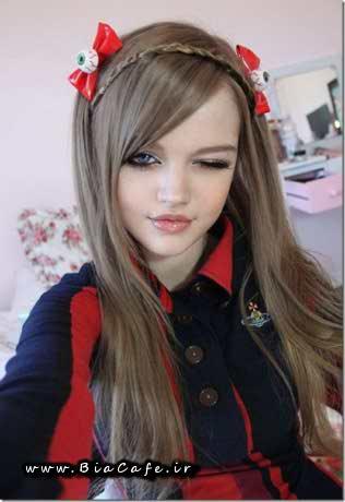عکس سلفی دختر نوجوان زیبا