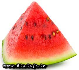 هندوانه شیرین و قرمز