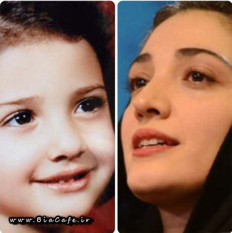 عکس مینا ساداتی در کودکی