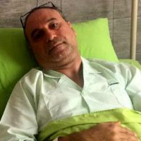 حمید فرخ نژاد روی تخت بیمارستان+عکس/آخرین وضعیت حمید فرخنژاد بعد از عمل جراحی