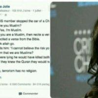 آنجلینا جولی در رابطه با داعش/پست عجیب آنجلینا جولی در رابطه با داعش+عکس