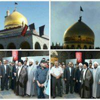 تعویض پرچم گنبد حرم حضرت زینب سلام الله علیها در آستانه محرم+عکس