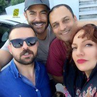 مهناز افشار، حسين يارى، محمدرضا گلزار و هومن سيدى در عاشقانه ها+عکس